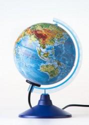 Глобус Земли физико-политический с подсветкой D 150 мм Ке011500201