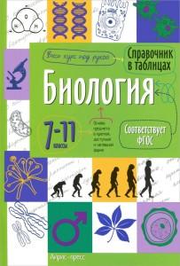 Биология Справочник в таблицах 7-11 классы Весь курс под рукой Учебное пособие 0+