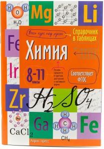 Химия Справочник в таблицах 8-11 классы Весь курс под рукой Учебное пособие 0+