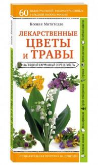 Лекарственные цветы и травы наглядный карманный определитель Книга Митителло Ксения 12+