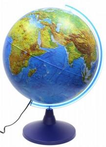 Глобус Земли физико политический 400мм с подсветкой Классик Евро Ке014000246 6+