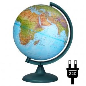 Глобус Земли Двойная карта физический политический диаметр 250 мм с подсветкой 10166