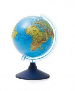 Глобус Земли физический рельефный 210 мм Классик Евро Ке022100183 6+