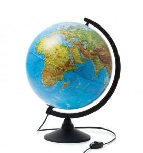 Глобус Земли физико политический с подсветкой 320мм Классик К013200101 6+