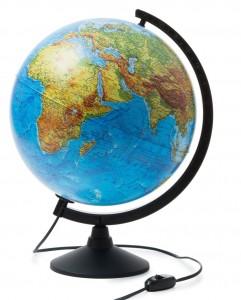 Глобус Земли физический 320 мм с подсветкой Классик К013200017 0+