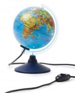 Глобус Земли физический с подсветкой Диаметр 150 мм Ке011500199