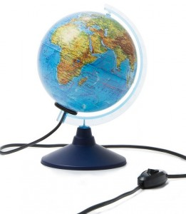 Глобус Земли физико политический с подсветкой Классик Евро 150 мм Ке011500201 6+