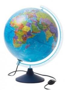 Глобус Земли политический с подсветкой Классик Евро 320 мм Ке013200227 6+