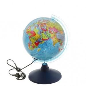 Глобус Земли политический 210 мм с подсветкой серия Классик Евро Ke012100180 6+
