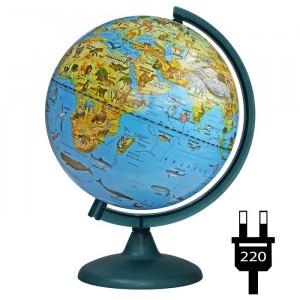 Глобус Земли зоогеографический с подсветкой 250 мм 10370