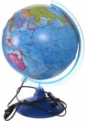 Глобус Земли политический Рельефный с подсветкой Классик Евро 250 мм Ke022500204 6+