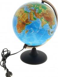 Глобус физический диаметр 250 мм с подсветкой