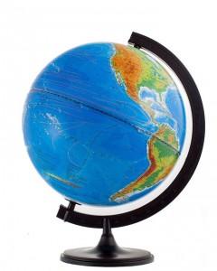 Глобус Земли двойная карта физический политический 320мм с подсветкой 10095
