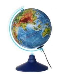 Глобус Земли физический с подсветкой Классик Евро 210 мм Ке012100179 6+