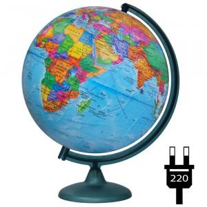 Глобус политический физический с подсветкой 320 мм 17031