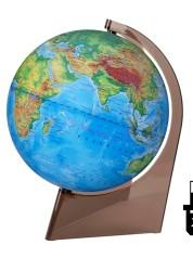 Глобус Земли физический 210 мм на треугольной подставке с подсветкой 10274