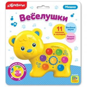 Электронная музыкальная игрушка Веселушки Мишка 3+