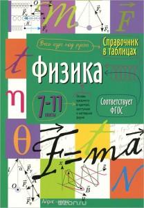 Физика Справочник в таблицах 7-11 классы Весь курс под рукой Учебное пособие 0+