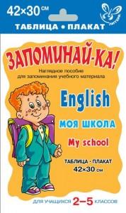 Английский язык Моя школа Запоминайка 2-5 классы Учебное пособие 6+