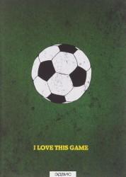 I love this game Футбол блокнот спортивного человека