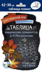 Химия Таблица химических элементов Менделеева ДИ Запоминайка Пособие 12+