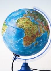 Глобус Globen Земли физико политический 250мм с подсветкой Рельефный Классик Евро Ке022500195