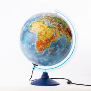 Глобус Земли физико политический Классик Евро 320 мм с подсветкой Ке013200228 6+