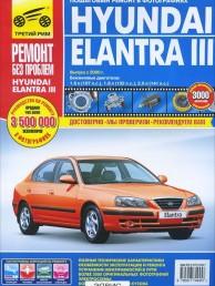 Hyundai Elantra 3 выпуск с 2000 года Пошаговый ремонт в фотографиях Книга Титков