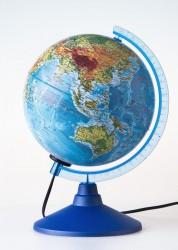 Глобус Globen Земли физико политический 210мм с подсветкой Классик Евро Ке012100181