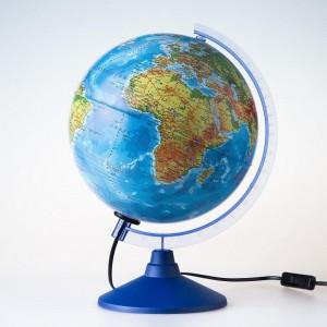 Глобус Земли физико политический Классик Евро 250 мм с подсветкой Ke012500191 6+
