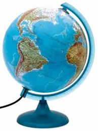 Глобус географический Орион d=25 голубой