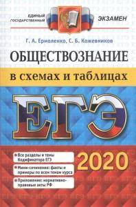 ЕГЭ 2020 Обществознание В схемах и таблицах Пособие Ермоленко ГА