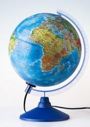 Глобус Земли физико политический Классик Евро 320мм с подсветкой рельефный Ке013200233 6+