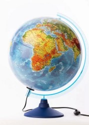 Глобус Земли физико политический Классик Евро 320мм с подсветкой Ке013200228 6+