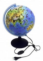 Глобус Земли Зоогеографический детский с подсветкой Классик Евро 250 мм Ке012600270 6+