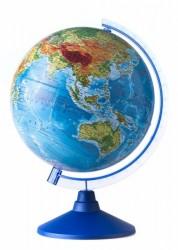 Глобус Земли физико политический Классик Евро 250 мм с подсветкой Ве012500257 6+