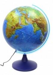 Глобус Globen Земли физико политический 400мм с подсветкой Классик Евро Ке014000246